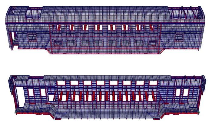пассажирского вагона модели